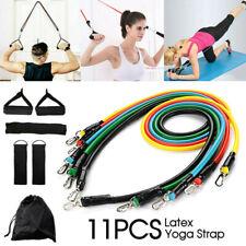 11PCS Yoga Strap Latex Resistance Bands Exercise Home Gym Tube Fitness Elastic