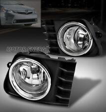 12 13 14 TOYOTA PRIUS V BUMPER DRIVING FOG LIGHT LAMP CHROME W/SWITCH LEFT+RIGHT