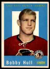 1959-60 TOPPS TOPPS BOBBY HULL CHICAGO BLACKHAWKS #47 JM