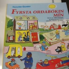 Icelandic, Danish, English Picture dictionary by Richard Scarry; HC
