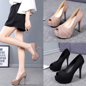 Lady Fashion Stilettos Peep Toe Platform Women High Heels Sexy Prom Office Shoes