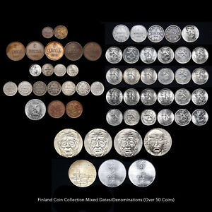 FINLAND COIN COLLECTION (OVER 50 COINS) MIXED DATE / DENOMINATIONS RARE ISSUES