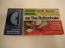 Vintage Greist No. 6-Z The Buttonholer Buttonhole Stitch Attachment & Templates