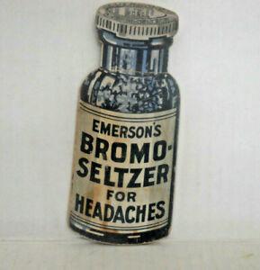Advertising Emerson's BROMO-SELTZER Headache Bottle Sewing Needle Pin Book