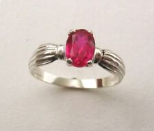 Ruby Lab-Created/Cultured Sterling Silver Fine Rings