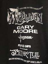 Marillion  Garden party Milton Keynes 1986 Jethro Tull T Shirt From Poster