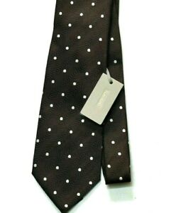 """Tom Ford Brown Brown Polka Dot Mulberry 100% Silk Tie """"Current Style"""" New w/Tags"""
