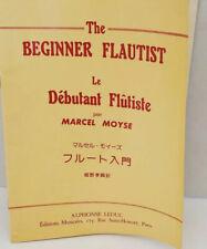 The Beginner Flautist Le Debutant Flutiste By Marcel Moyse Paperback Music Sheet