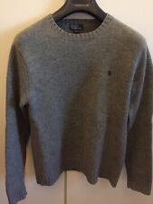 maglione polo Ralph Lauren Uomo TG XL Lana Colore Grigio