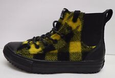 Converse Woolrich Size 9 Black Yellow Wool Hi Top Sneakers New Womens Shoes