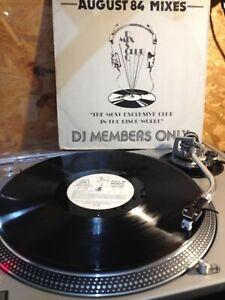 "DMC 19 AUGUST 84  MIXES DISCO MIX CLUB -DJ MEMBERS ONLY PROMO 12"""