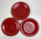 Homer Laughlin Fiesta Fiestaware Red Salad Plates Lot Of 3