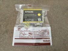 Genuine Epson Ink Cartridge - Yellow T0714