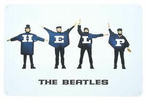 The Beatles HELP Metal Wall Sign Retro Tin Steel Plaque Bar Gift (20cm x 30cm)