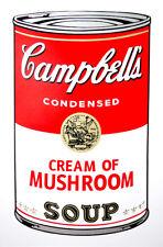 ANDY WARHOL Pop Art - Sunday B Morning - Campbell's Soup Can Mushroom + COA