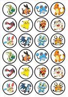 Eßbar Tortenaufleger Pokemon DVD Muffin NEU 20 Stück Oblate backen Dekoration