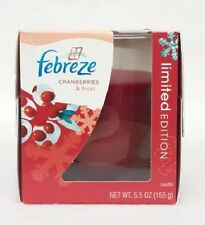 1 Febreze Limited Edition CRANBERRIES & FROST Scented 1 - Wick Filled Candle
