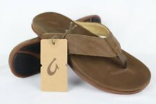 34182d890b56 New Olukai Men s Pikoi Flip Flop Comfort Sandals 9m Ray Brown Leather