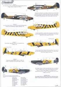 Xtra Decals 1/72 COMMONWEALTH TRAINERS Oxford Anson Harvard Battle & Spitfire