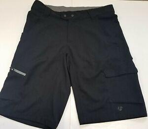 Bontrager Mens Rhythm Cycling Shorts (Shell) Large Black Adj Waist Loose Fit