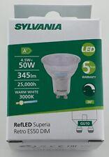 6 PACK LED SYLVANIA GU10 RefLED Superia Retro 4.5W = 50W ES50 345LM DIM 830 36d