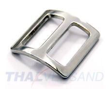 10 Stück Schieber Stopper gewölbt 15mm Stahl vernickelt Regulator für Gurtband