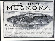 1904 Royal Muskoka Hotel Muskoka Lakes Canada illustrated vintage print ad