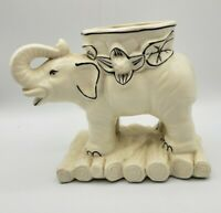 "Vintage Elephant Vessel Planter Marked Japan 7"" long x 6"" high"