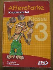 Affenstarke Knobelkartei, Klasse 3, Mathematik Grundschule, Kopiervorlagen, BVK