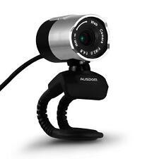 Cámara de ordenador HD USB portátil AUSDOM 1080p Gira 360 grados con micrófono