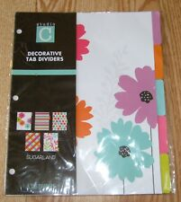 STUDIO C Sugarland By JACKIE Jacqueline McFee 5 Decorative Floral Tab Dividers