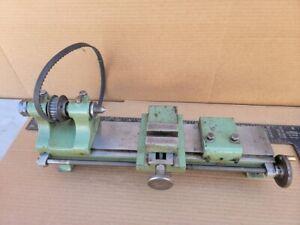 Vintage lathe Mill Jeweler, Watchmaker, Hobby, Gunsmith Bed Pulley Slide