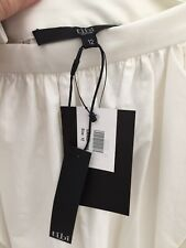 Tibi White Gathered Skirt US 12 UK 16 Waist 16 1/4 In New With Tag