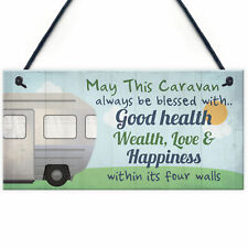 Bless This Caravan Plaque Novelty Camping Camper Sign Mum Nan Christmas Gifts