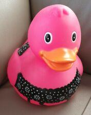 XXL Riesen Badeente 26 cm DEKOente Gummiente Spaß  Badespielzeug groß?pink