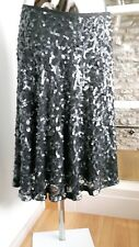 BNWT Hobbs evening sequined special occasion Silk skirt UK12