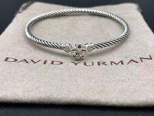 David Yurman Cable Collectibles Fleur-de-les & Diamonds Bracelet - NWOT $425