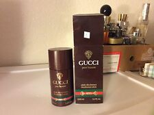 Rare Vintage Men Him Gucci Pour Homme Deodorant stick 100 mL 3.4fl.oz 3.3oz New