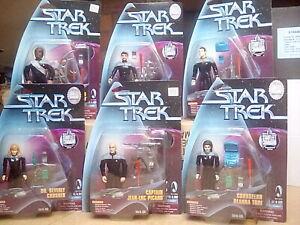 Playmates Star Trek The Next Generation Set of 6 Action Figures - Bridge Crew