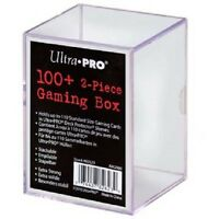 (6 Boxes) Ultra Pro 100+ Card 2 Piece Gaming Slide Box Holds Cards In Sleeves