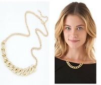 Gold Chunky Retro Link Chain Double Costume Jewellery Necklace