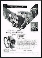 1950s Vintage Smiths De Luxe Wrist Watch Frank Mercer Horologist Photo Print Ad