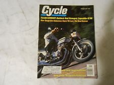 FEBRUARY 1980 CYCLE MAGAZINE,SUZUKI GS1100ET,HUSKY 250CR,YAMAHA YZ465G,HONDA CB4