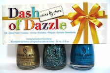 China Glaze DASH OF DAZZLE Nail Polish Set~81396 BLUE, 81397 BELLS, 81398 MINGLE