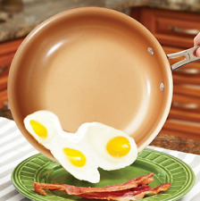 Copper NON STICK CERAMIC INDUCTION Extra Deep Large 23cm PRO Frying Pan