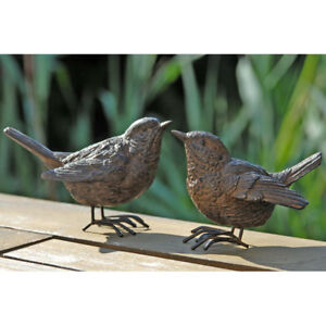 Dekovogel Spatz 6cm Rostbraun Vogel Vogelfigur Gartenfigur Kunstharz