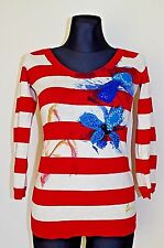 €69 DESIGUAL sz S M ? WOMENS KNITTED SWEATER JUMPER TOP BLOUSE SEQUINS BEADS NEW