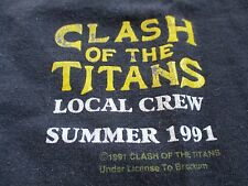 1991 CLASH OF THE TITANS (XL) B Tank Top MEGADETH SLAYER ANTHRAX ALICE IN CHAINS