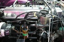 BLACK 8MM PERFORMANCE IGNITION LEADS TRIUMPH GT6 TR6 TR5 QUALITY BUILT LEADS HT