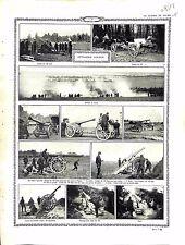Artillerie Lourde Canon de 120/105 Batterie Place de Furnes Belgique 1914 WWI